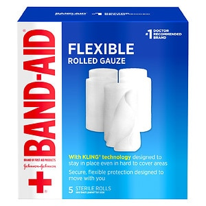 Band-Aid First Aid Covers Kling Rolled Gauze, Medium