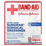 Band-Aid Surgipad Surgical Dressing, Extra Large- 12 ea