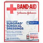 Band-Aid Surgipad Surgical Dressing, Extra Large- 12 ea