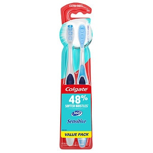 Colgate 360 Enamel Health Sensitive Toothbrush, Extra Soft