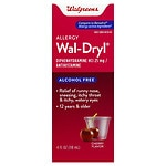 Walgreens Wal-Dryl Allergy, Liquid, Cherry- 4 fl oz