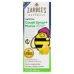 ZarBee's Naturals Children's Cough Syrup + Mucus Reducer, Nighttime, Grape- 4 fl oz