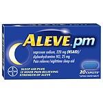 Aleve PM Pain Reliever, Nighttime Sleep-Aid Caplets- 20 ea