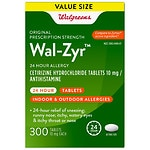 Walgreens Wal-Zyr 24 Hour Allergy Tablets- 300 ea