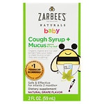 ZarBee's Naturals Baby Cough Syrup + Mucus Reducer, Grape- 2 fl oz