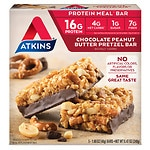 Atkins Advantage Meal Bars, Chocolate Peanut Butter Pretzel, 5 pk- 1.7 oz