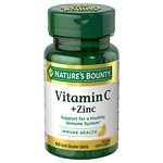 Nature's Bounty Quick Dissolve Vitamin C plus Zinc, Tablets- 60 ea