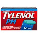 TYLENOL Extra Strength PM Caplets- 24 ea