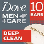 Dove Men+Care Body & Face Bar, Deep Clean, 10 pk- 4 oz