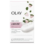 Olay Fresh Outlast Beauty Bar, Cooling White Strawberry & Mint, 6 pk- 4 oz