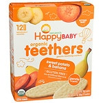 Happy Baby Gentle Teethers Organic Teething Wafers, Banana & Sweet Potato- 12 ea