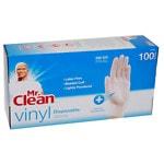 Mr. Clean Vinyl Disposable Gloves, White- 100 ea