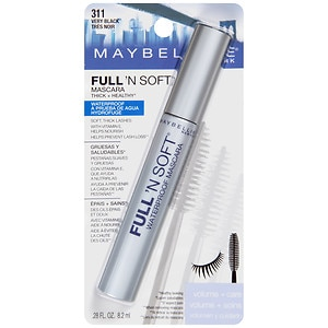 Maybelline Full 'N Soft Waterproof Mascara, Very Black