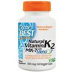 Doctor's Best MK-7 Vitamin K2 100mcg, Veggie Capsules