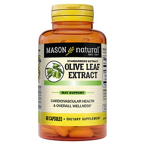 Mason Natural Olive Leaf Extract, Capsules