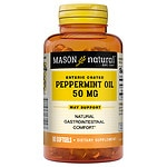 Mason Natural Peppermint Oil Enteric Coated 50mg, Softgels