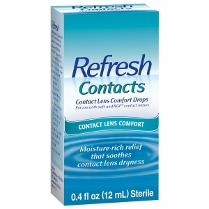 Refresh Contacts, Contact Lens Comfort Drops- .4 fl oz