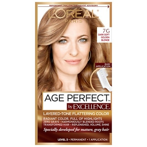 L'Oreal Paris Excellence Age Perfect Permanent Layered-Tone Flattering Color, Dark Soft Golden Blonde