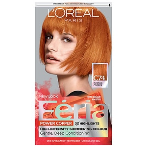 L'Oreal Paris Feria Permanent Haircolor, Power Copper 74