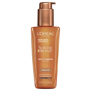 L'Oreal Paris Sublime Bronze Self-Tanning Serum, Medium Natural Tan