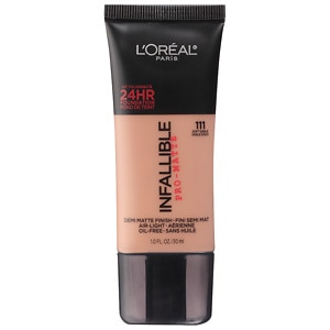 L'Oreal Paris Infallible Pro-Matte Up to 24 Hr Demi-Matte Finish Foundation, Soft Sable