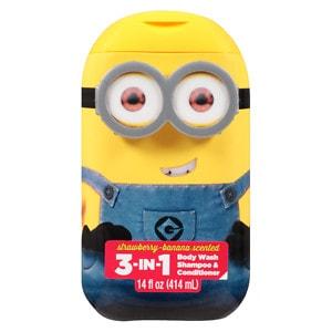 Despicable Me Minions 3 in 1 Body Wash, Assorted, 14 fl oz