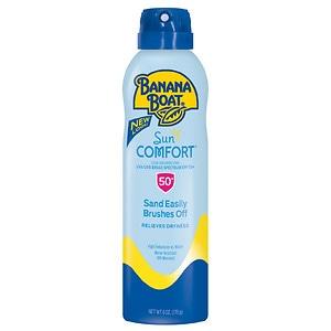 Banana Boat SunComfort Clear Spray Sunscreen, SPF 50+