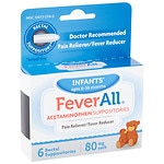 FeverAll Infant Suppositories 80mg- 6 ea