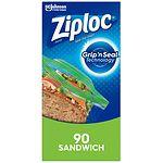 Ziploc Sandwich Bags- 90 ea