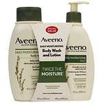 Aveeno Active Naturals Wash & Lotion Favorites Bundle- 1 ea