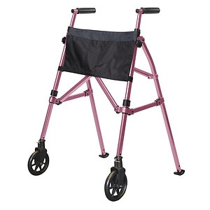 Stander EZ Fold N' Go Walker, Regal Rose