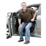 Stander Metro Car Handle Plus, Grey- 1 ea