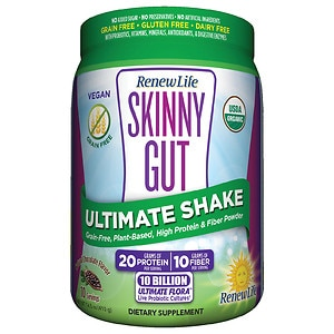 ReNew Life Skinny Gut Ultimate Shake, Natural Chocolate Flavor