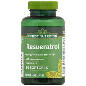 Finest Nutrition Resveratrol 500mg Extra Strength, Softgels- 60 ea