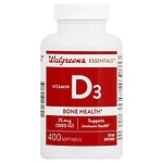 Walgreens Vitamin D3 Bone Health, 1000 IU, Softgels- 400 ea