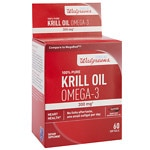 Walgreens Krill Oil Omega-3 300mg, Softgels- 60 ea