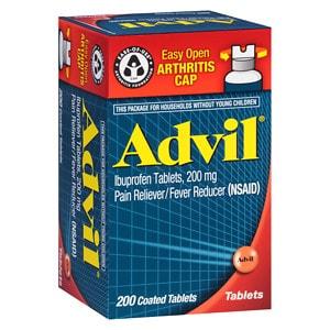 Advil Ibuprofen 200mg Coated Tablets