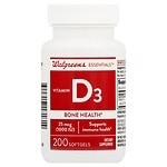 Walgreens Red Vitamin D3 1000 IU, Softgels- 200 ea