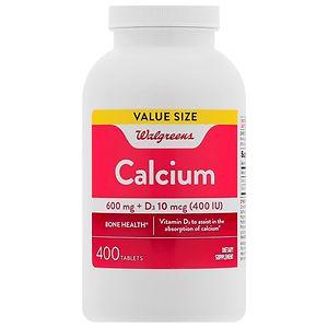 Walgreens Calcium 600 mg + D3, Tablets