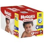 Huggies Snug & Dry Big Pack Diapers, 3- 100 ea