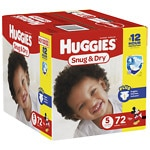 Huggies Snug & Dry Big Pack Diapers, 5- 72 ea