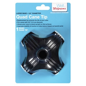 Walgreens Quad Support Cane Tip, Black