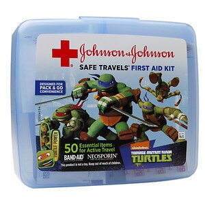 Band-Aid Safe Travels First Aid Kit, Nickelodeon Teenage Mutant