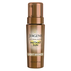 Jergens Natural Glow Instant Sun Sunless Tanning Mousse, Light