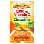 Emergen-C 1000 mg Vitamin C Chewables, Orange Blast- 40 ea