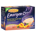 Emergen-C Emergen-zzzz Nighttime Sleep Aid with Melatonin, Peach- 24 ea