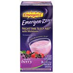 Emergen-C Emergen-zzzz Nighttime Sleep Aid with Melatonin, Mellow Berry- 24 ea