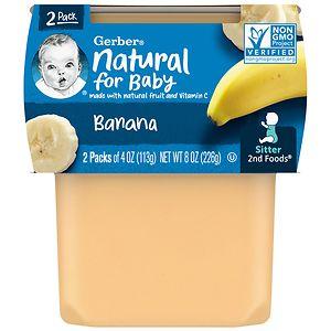 Gerber 2F Puree Tub, Bananas, 4 oz
