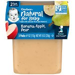Gerber 2F Puree Tub, Bananas with Apples & Pears- 4 oz