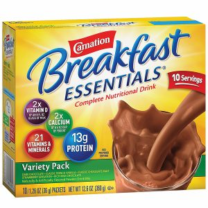 Carnation Breakfast Essentials Complete Nutritional Drink, Packets, Variety Pack, 10 pk